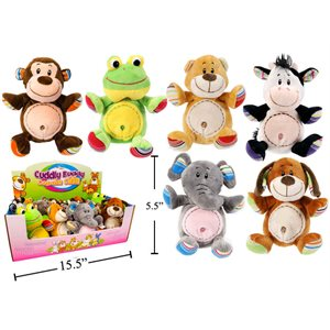 Peluches animal 5.5 pouces assorties (12)