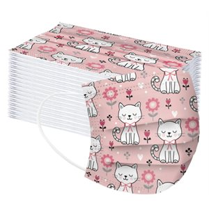 Masques Jetables Adulte, Petits chatons (10)
