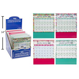 Calendrier chevalet 6x7 2022 BOOKING