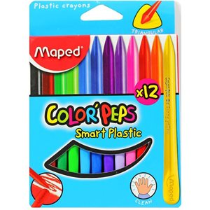 Crayon de plastique (12) Maped *
